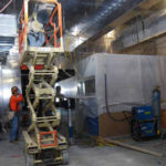 Installation of shielding material in switchgear room to reduce electromagnetic fields.